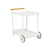 Click to swap image: <strong>Lagoon Bar Trolley - White - RRP-$1633</strong></br>Dimensions: W785 x D500 x H820mm</br>Shipped: Assembled - 0.438m3</br>Frame Colour - White</br>Frame Finish - Powdercoated</br>Frame Material - Aluminium</br>Handle Finish - Natural sanded</br>Handle Material - Teak