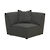 Click to swap image: <strong>Felix Round Corner-Charcoal - RRP-$2205</strong></br>Dimensions: W970 x D970 x H760mm</br>Shipped: Assembled - 0.7m3</br>Cushion Construction - Sofa Cushion Profile - Medium</br>Filling Material - Feather and Foam Fill</br>Product Configuration - Joining Brackets Included</br>Seat Height - 420mm Seat height</br>Upholstery Colour - Charcoal Tweed</br>Upholstery Composition - Fabric (100% Polyester)