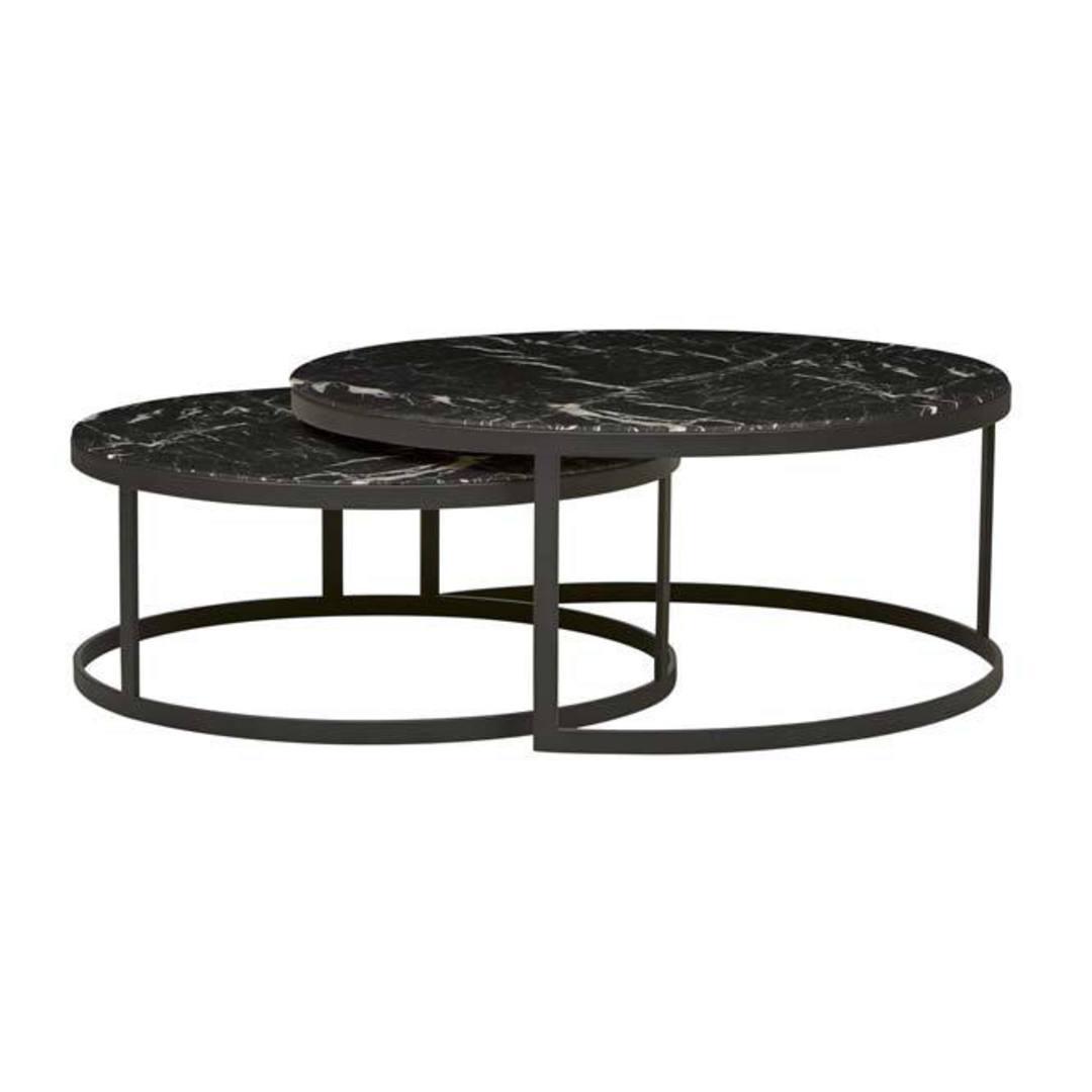 Elle Round Nest Flat Coffee Table image 5