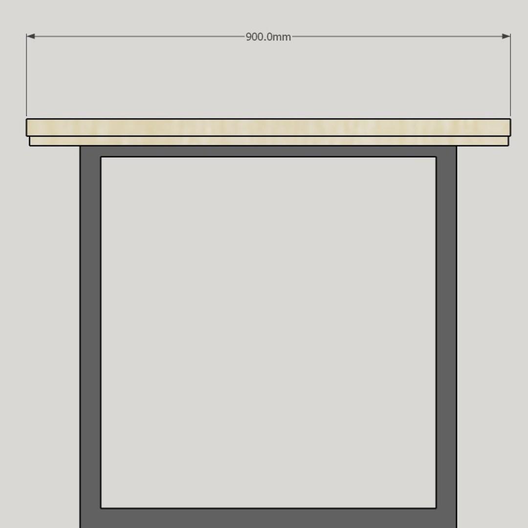 Thorndon Square Base 2400mm Table & Barleaner image 8