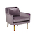 Click to swap image: <strong>Sullivan Sofa Chair-MauveVelvet - RRP-$2344</strong></br>Dimensions: W750 x D810 x H720mm</br>Shipped: Assembled (K/D Legs) - 0.367m3</br>  -