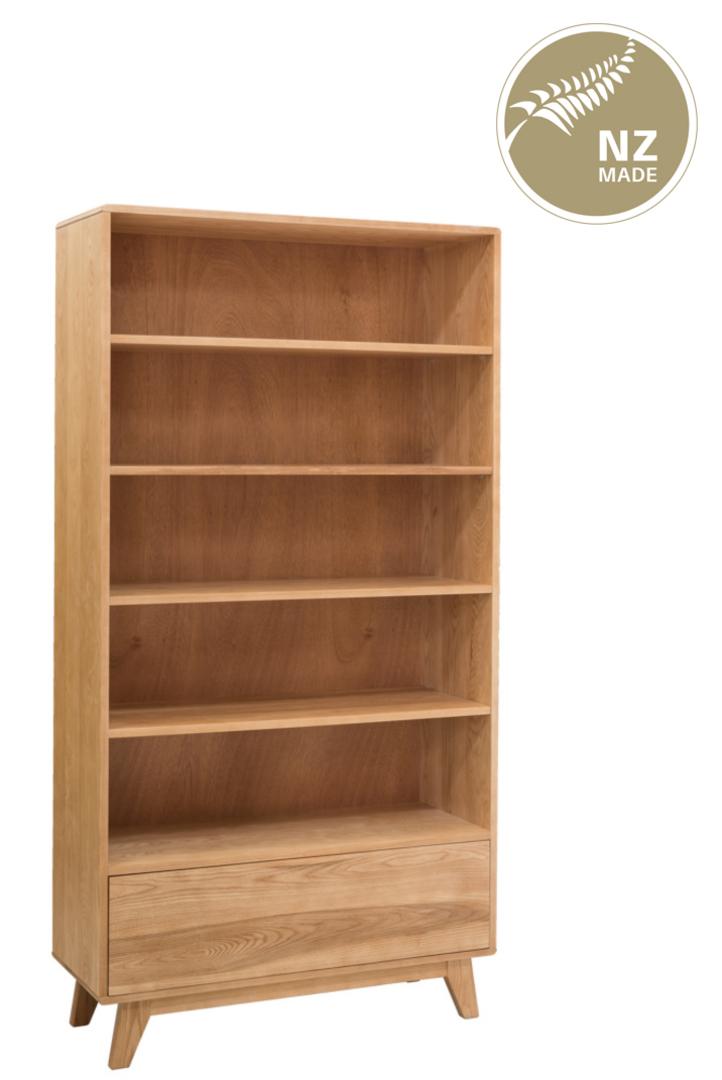 Arco 1000 x 1900 Bookcase - 1 Drawer / 4 adjustable shelf image 0