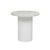 Click to swap image: <strong>Elle Pillar Side Tb-Wh/MtWhite - RRP-$2000</strong></br>Dimensions: 500 Dia x H500mm</br>Shipped: K/D - Requires Assembly on site - 0.071m3</br>Base Colour - White</br>Base Finish - Powdercoated</br>Base Material - Stainless Steel</br>Top Colour - White</br>Top Finish - Matt</br>Top Material - Carrara Marble (Italian)