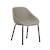 Click to swap image: <strong>Ronald Dining Ch- Cloudy Grey - RRP-$682</strong></br>Arm Height - 635mm</br>Seat Height - 460mm</br>Leg Finish - Powdercoat</br>Leg Colour - Matt Black</br>Leg Material - Metal</br>Upholstery Material - Fabric (100% Polyester)</br>Upholstery Colour - Cloudy Grey