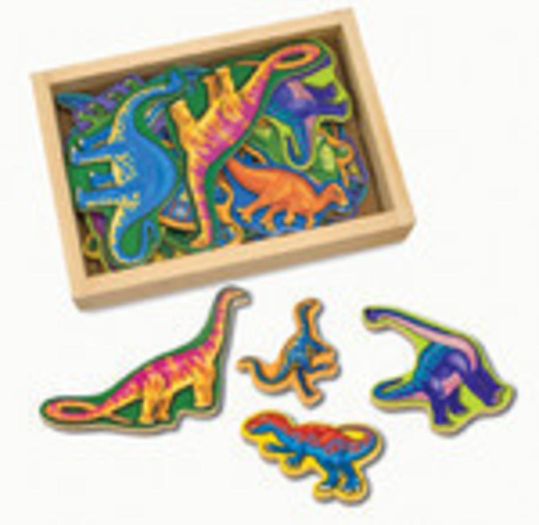 Wooden Dinosaur Magnets image 0