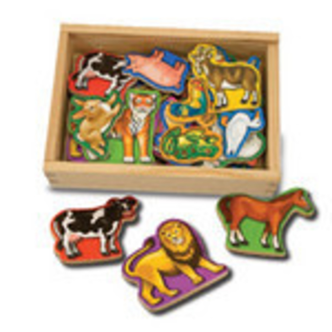 Wooden Animal Magnets image 0