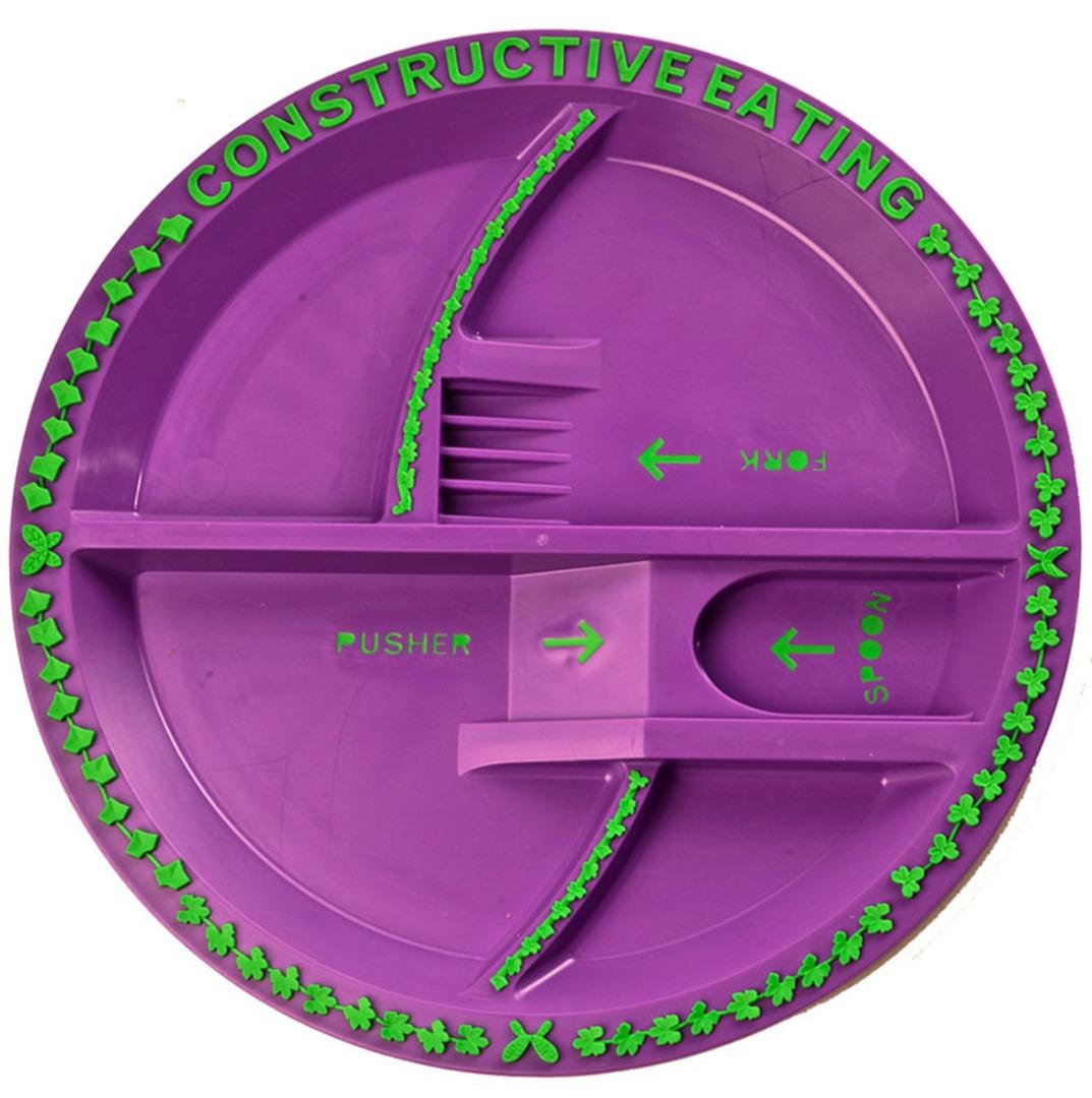 Garden Fairy Constructive Eating Kids Plate! image 0