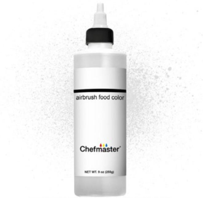 Chefmaster Airbrush Liquid White 9 oz image 0