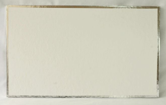 """Oblong, White Polystyrene Board 20"""" x 12"""" 14mm thick image 0"""