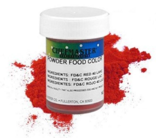 Chefmaster Powder Colour Red 3g image 0