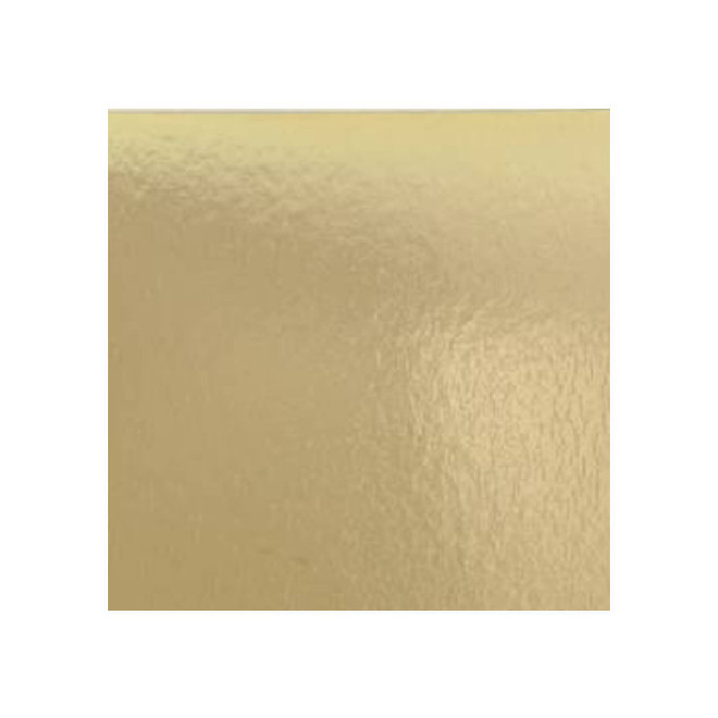 """125mm or 5"""" 2mm Square Cake Card, Gold image 0"""