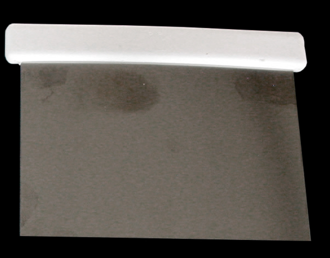 Rigid stainless steel Dough scraper 130x100mm (Italian) image 0
