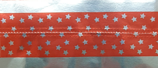 Cake Band Star Red/Silver 63mm (7m) image 0