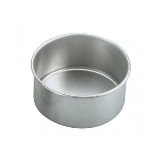 200x75mm Round Aluminium Solid Cake Pan image 0
