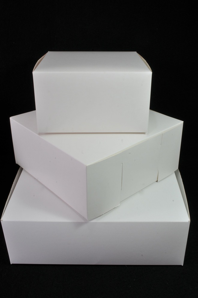 Cake boxes 8 x 8 x 4 inch, 203 x 203 x 102mm, Bundles of 100 image 0
