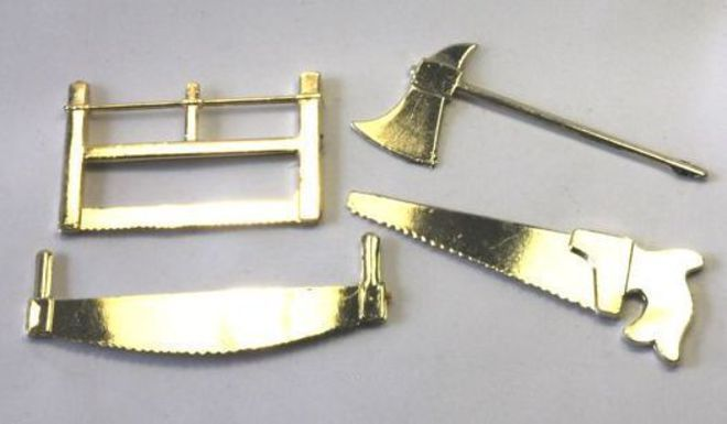 Set of 4 Gold tools 65mm image 0