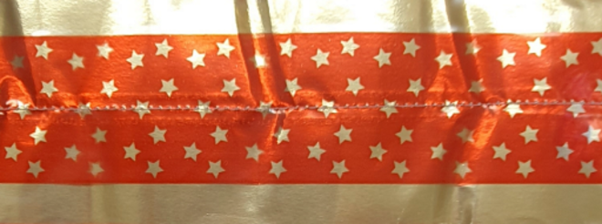 Cake Band Star Red/Gold  63mm (7m) (sold out) image 0