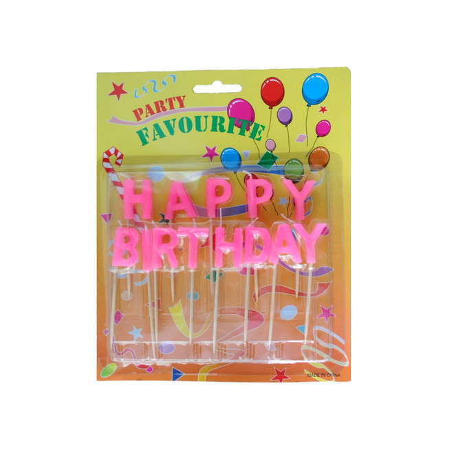 Candle Pink Happy Birthday Pick image 0