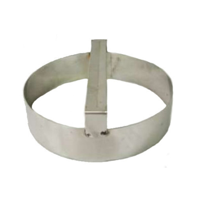 Plain round dough cutter 125mmx75mm Deep S/Steel with handle image 0