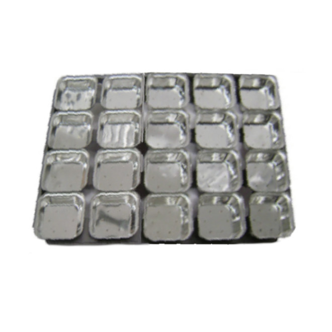 Palletized Pie Tins, (20) Square 108x27mm, Tray size 600x460mm image 0