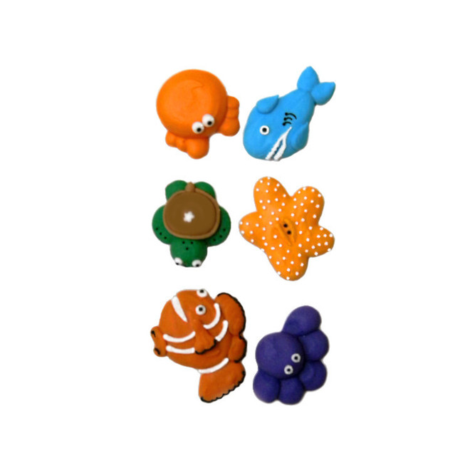 Sea Collection, 2D Assorted Icing Items (Retail Box of 6) image 0
