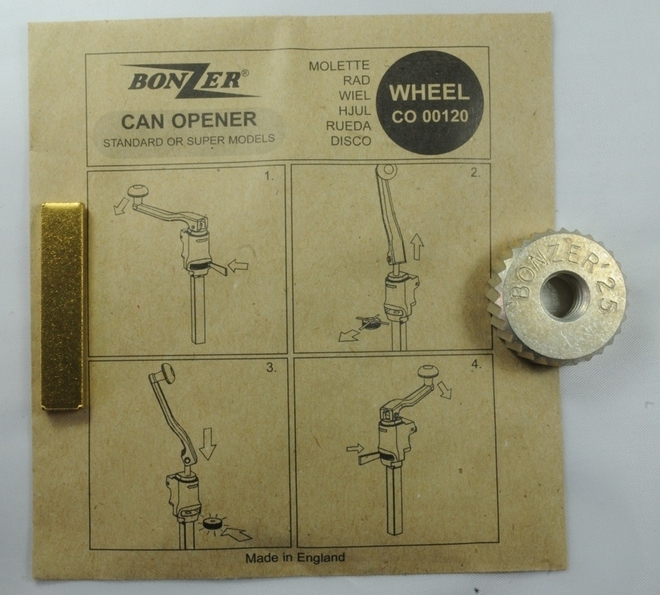 Bonzer Can Opener Wheel (replacement part for can opener 4107) image 0