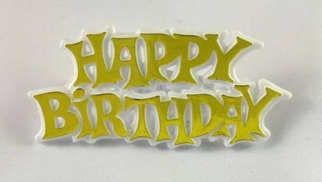 Happy Birthday Gold 65mm  (6) image 0