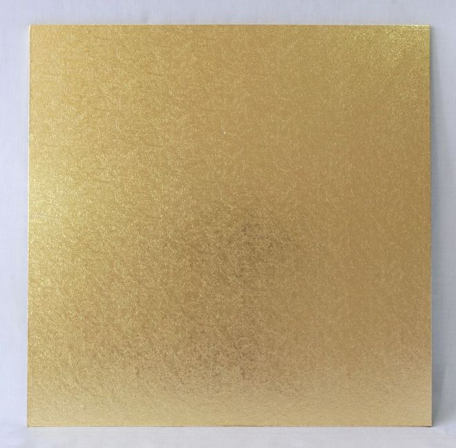 "Square 5"" MDF Board, Gold image 0"