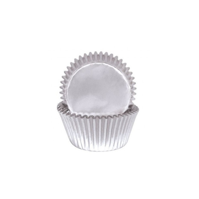 Foil Silver Baking Cups 55x35mm (500) image 0