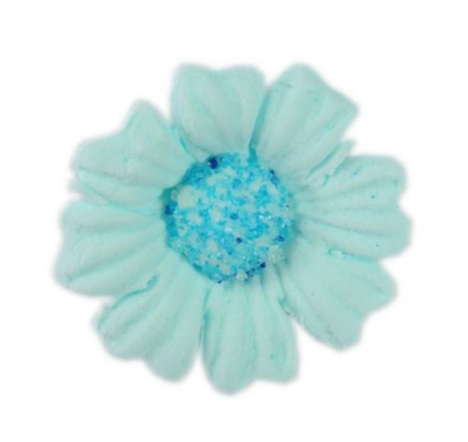Daisy Blue Icing Flower 40mm (32) image 0