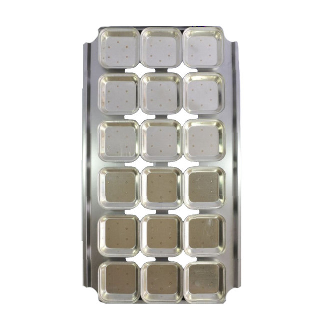 Palletized Pie Tins, (18) Square tins 108x27mm, Tray size 720x405mm image 0