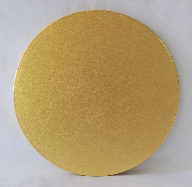 """Polystyrene Cake Board, Round, Gold Covered, 14"""" (350mm) image 0"""