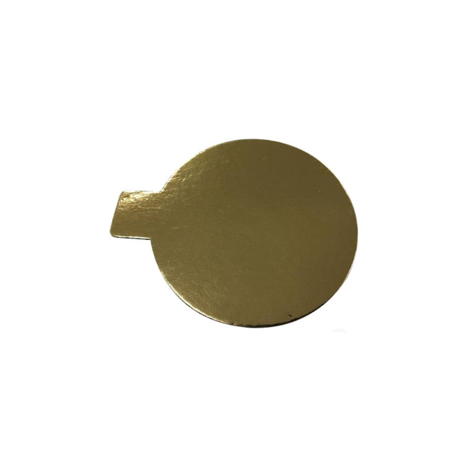 Cake Card 2mm Round with Tab 85mm  Gold  (1,000 Bundle) image 0