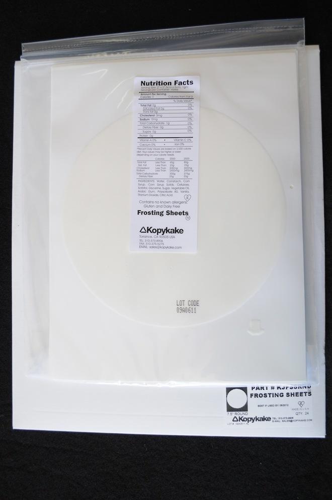 Kopykake 190mm Round Frosting Sheets (Pkt of 24) image 0