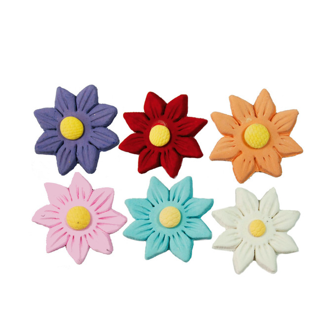 Icing Assorted Daisy,35mm(Red, Lavender, Pink, White) Box of 120 image 0