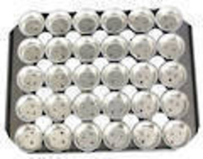 Palletized Savoury Pie Tins, (30) Shallow 68x19mm, Tray size 460x360mm, image 0