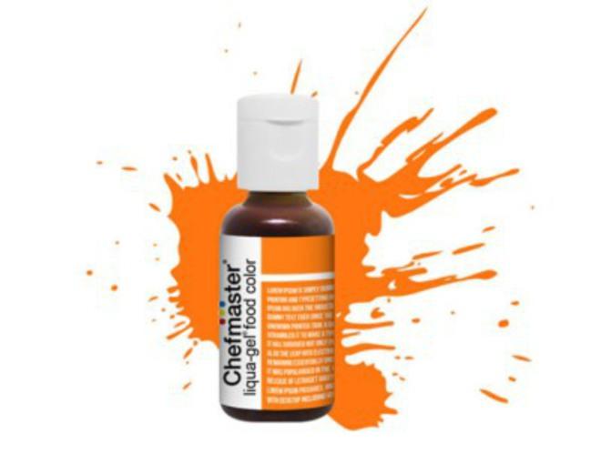 Chefmaster Liqua Gel Sunset Orange .70oz Bottle image 0