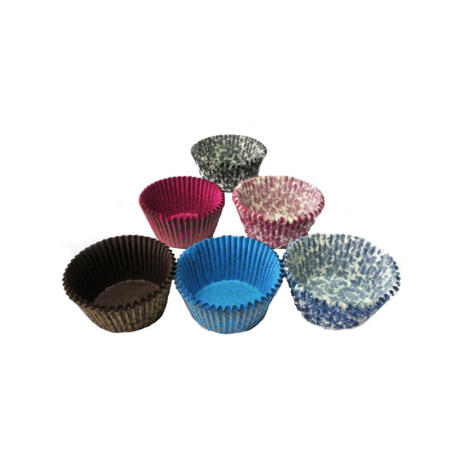 Large Muffin Paper Cases Multi-Coloured High Tea 55x36mm (500) image 0