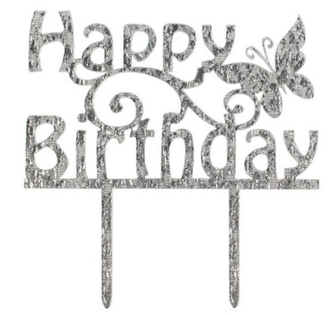 Topper Happy Birthday Butterfly (Pic) image 0