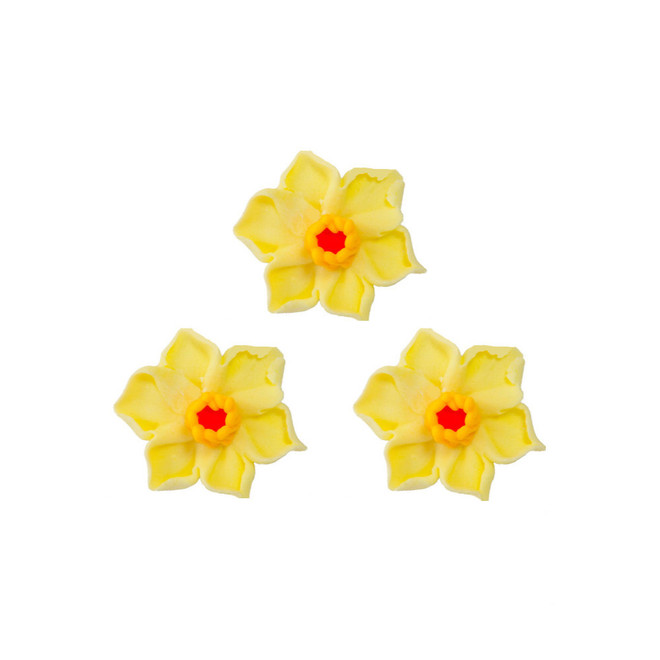 Daffodil Flowers, 35mm, 2D Icing (Retail Box of 8) image 0