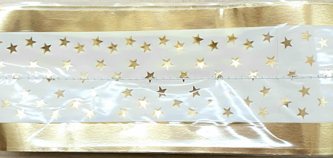 Cake Band Star White/Gold 63mm (7m) image 0