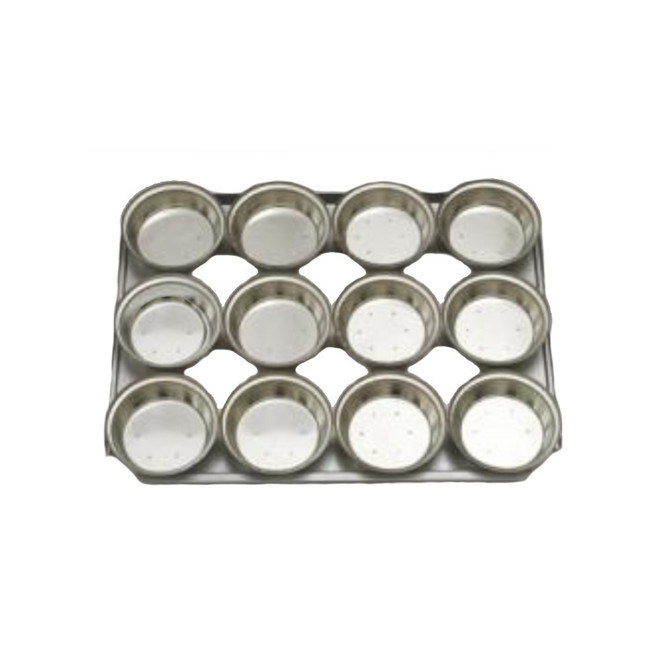 Palletized Pie Tins, (12) Round Very Deep 113x42mm, Tray size 460x360mm image 0