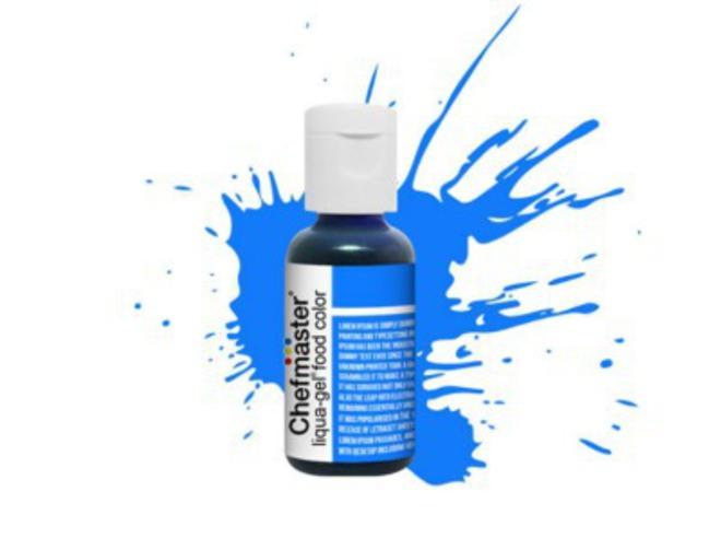 Chefmaster Liqua Gel Neon Brite Blue .70oz Bottle image 0