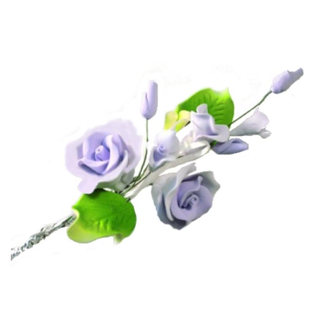 Icing Tea Rose spray, lavender 120mm, (Box of 3) image 0