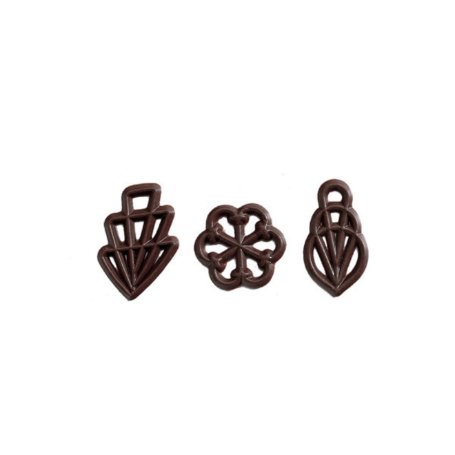 Chocolate Decorations -Filigran- 45mm  (300) - SOLD OUT image 0