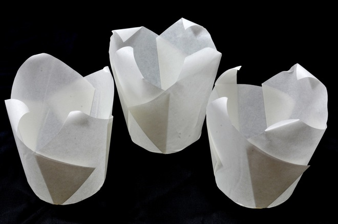 White Folded Cups 150x50mm (200) image 0