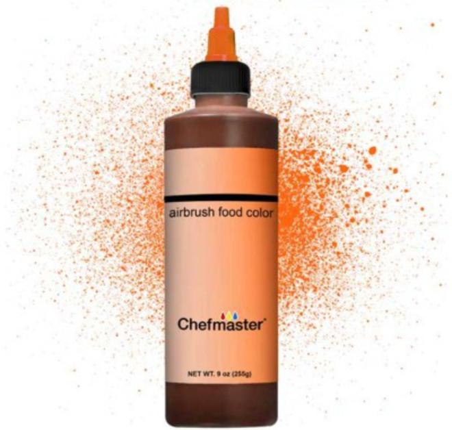 Chefmaster Airbrush Liquid Brite Orange 9oz image 0