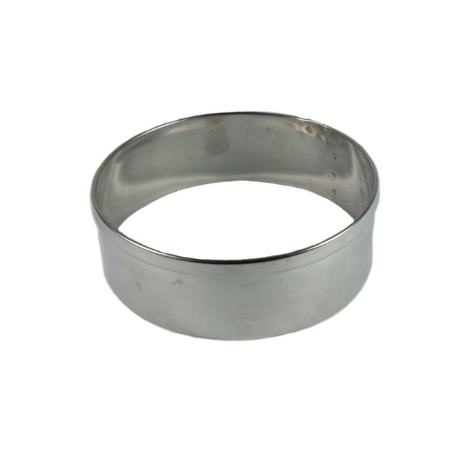 Stainless Steel Cake Rings 80x50mm deep, Stainless steel - made to order image 0