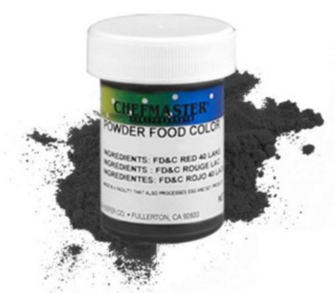 Chefmaster Powder Colour Black 3g image 0