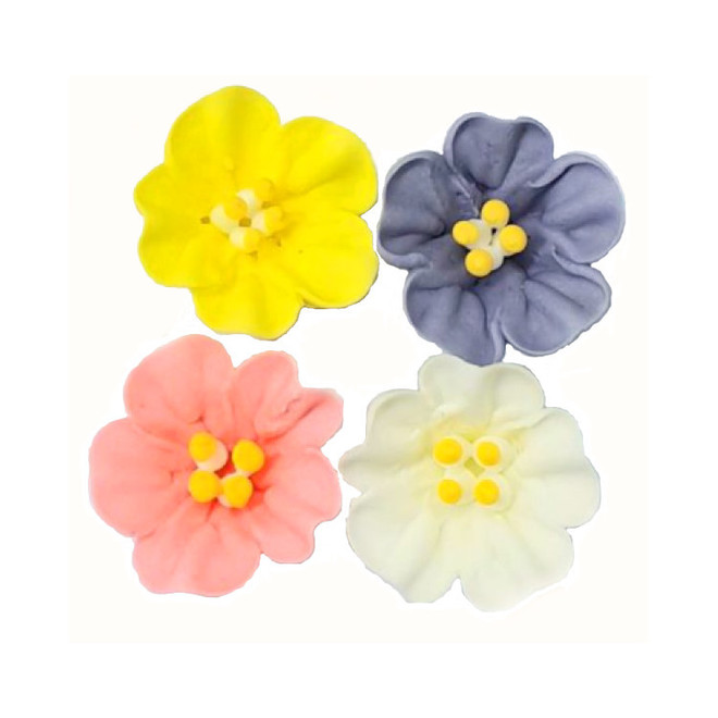 Icing Flowers Petunia Mixed Flowers 40mm (Box of 56) image 0